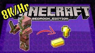 "Minecraft Bedrock Simple ""Zero Tick"" Gold Farm"