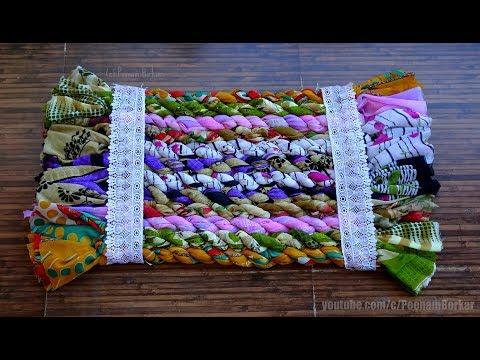DIY - Jumbo door mat from old sarees | Easy floor mat | Recycling old clothes