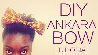 DIY NO-SEW ANKARA FABRIC BOW