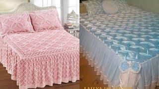 Top 50 unique and beautiful designer bridal bed sheets with smocking design ideas