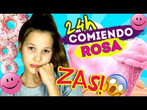 24 HORAS COMIENDO ROSA   EXAMEN DE BAILE   ME HAGO DAÑO EN EL HIELO   Daniela Golubeva