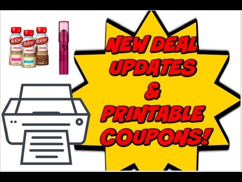 NEW DEAL UPDATES & PRINTABLE COUPONS!