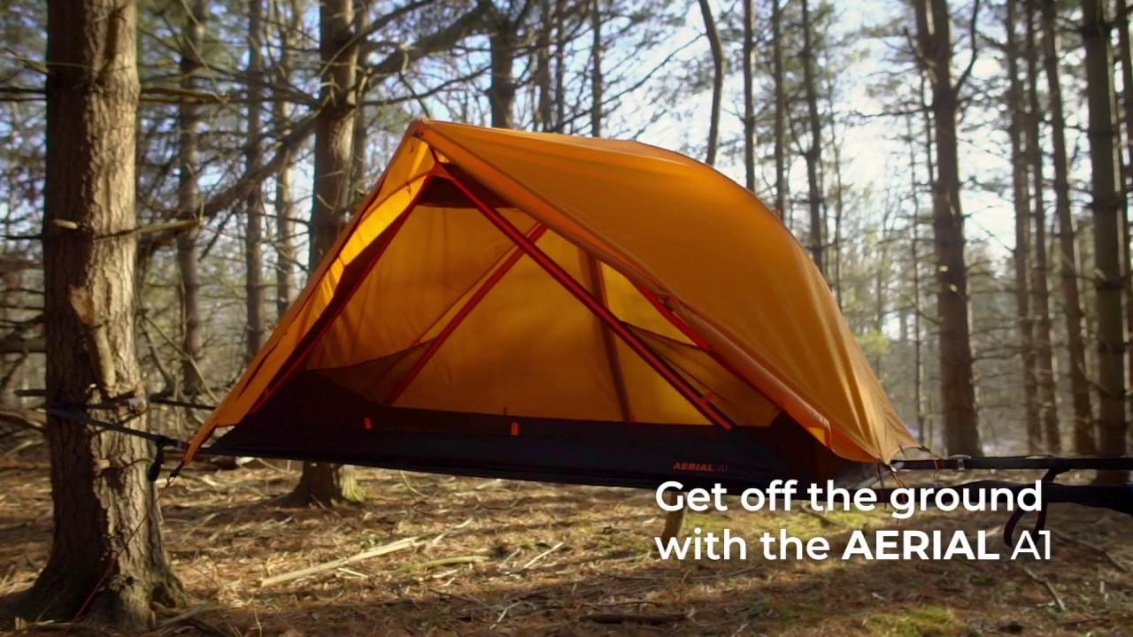 AERIAL A1: Zelt in luftiger und sicherer Höhe zwischen Bäumen