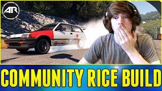 Forza Horizon 2 : TWITCH BUILDS A CAR!!! (Honda Civic Rice Community Build)