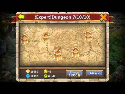 Castle Clash Expert Dungeon 7 3 (3 Flame)