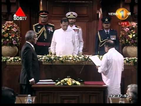 Breaking News  - Cabinet of Ministers - Sworn in Ceremony (04092015) Part 1