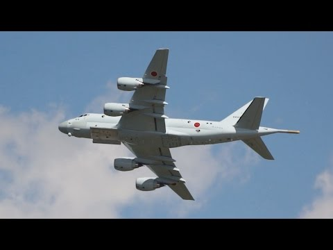 Kawasaki P-1 Japan Maritime Self-Defense Force JMSDF flying Display RIAT 2015 AirShow Sunday