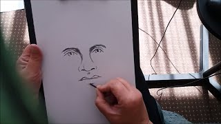 Tutorial -  How To Draw A Face / Portrait Using Charcoal Willow Sticks with Janette Oakman