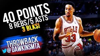 Scottie Pippen Full Highlights 1995.03.11 vs Lakers - 40 Pts, 8 Rebs, 5 Ast, 3 Blocks!