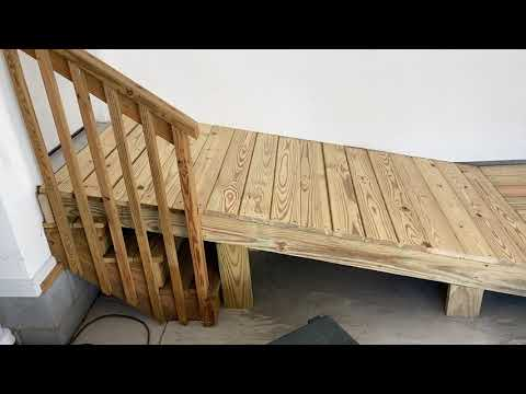 Building a handicap ramp.  Basic design.