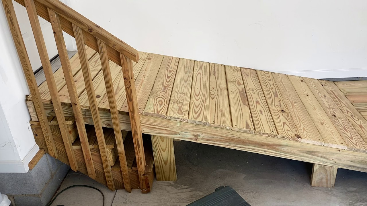How to build a wheelchair ramp over steps?