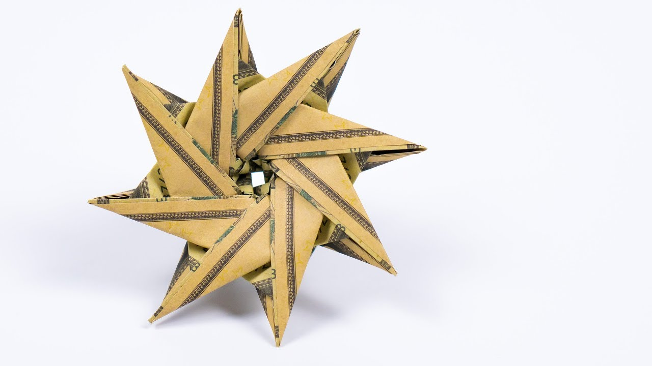 Money STAR Origami Dollar Tutorial DIY Christmas decoration Idea ... | 720x1280