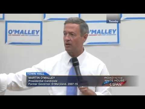 Martin O'Malley Town Hall in Durham, New Hampshire