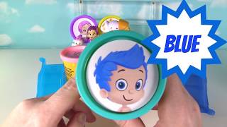 BUBBLE GUPPIES Play Doh Surprise Toys - LEARN COLORS Nick Jr Kids