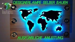 Weltkarte Designer Deckenlampe Selber Bauen und Installieren Anleitung