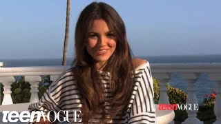 Victoria Justice on the set of her Teen Vogue photoshoot