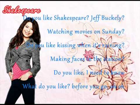 Miranda Cosgrove - Shakespeare Karaoke (Lyrics)