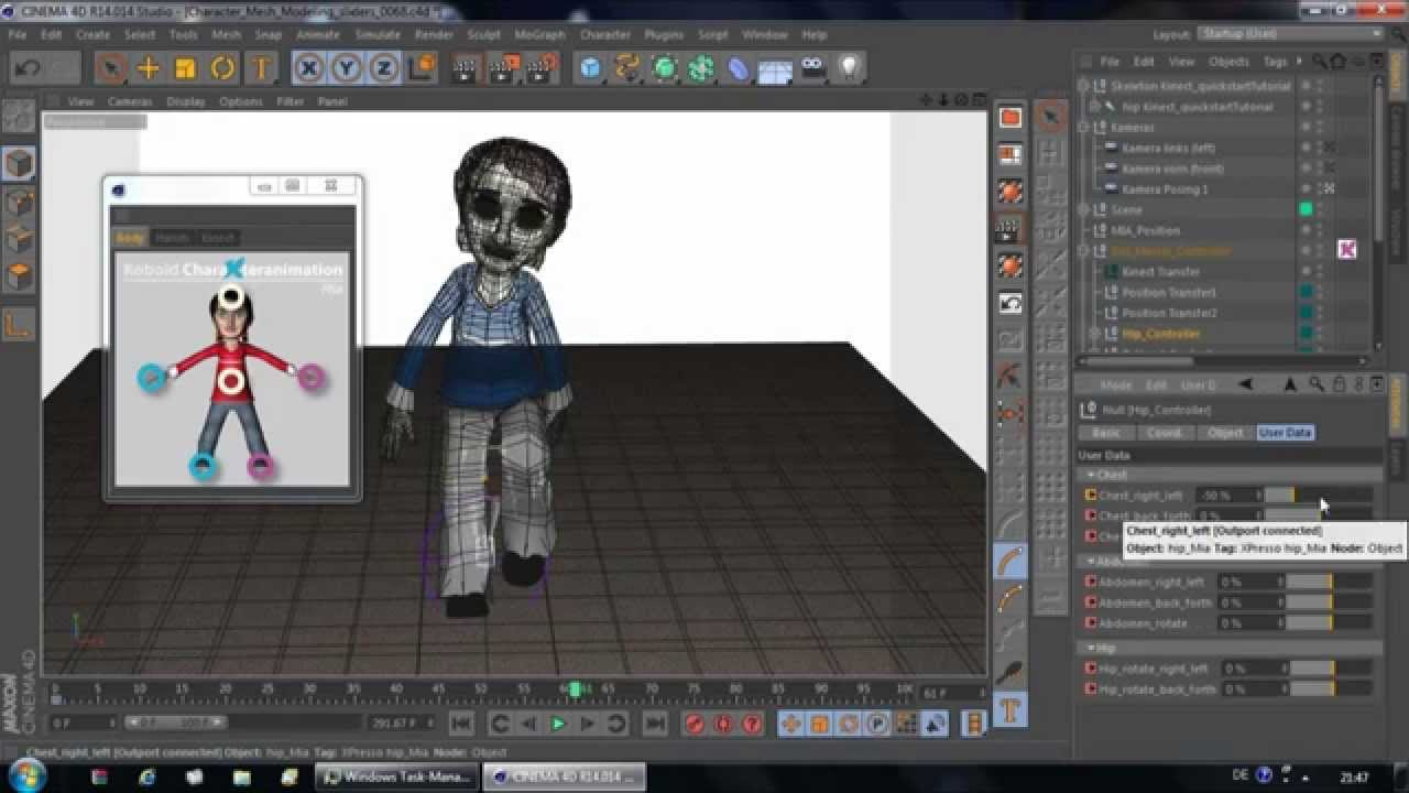 Quickstart video 2 apply motion capture data to mia in for Cinema 4d raumgestaltung