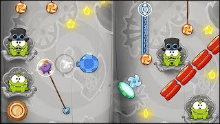 Cut the Rope: Time Travel - Area 10 - Industrial Age Walkthrough (all stars collected)