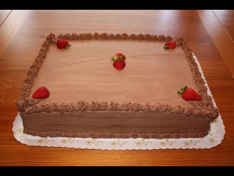 Chocolate Half Sheet Cake Decoration YouTube