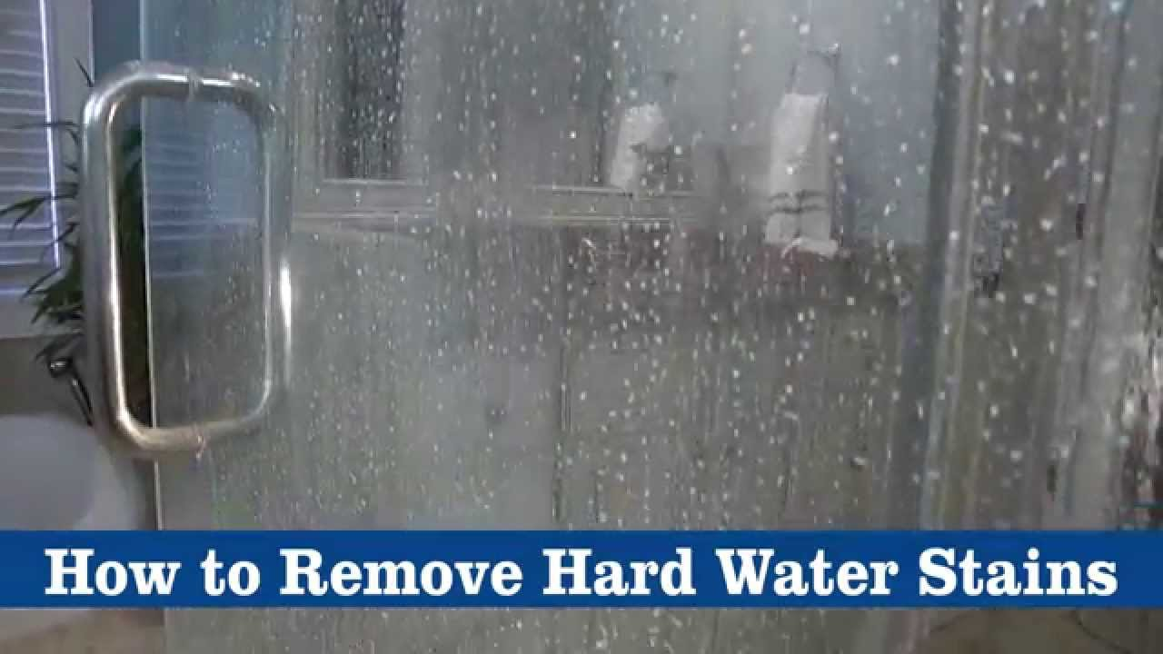 How to remove hard water stains using bkf youtube for Best bathroom cleaner for hard water