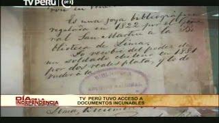 TV Perú tuvo acceso a documentos de la Independencia del Perú