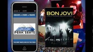 Concert and Music Festival Tickets with your Peak Seats Mobile Ticket App, Fast, Easy, Free