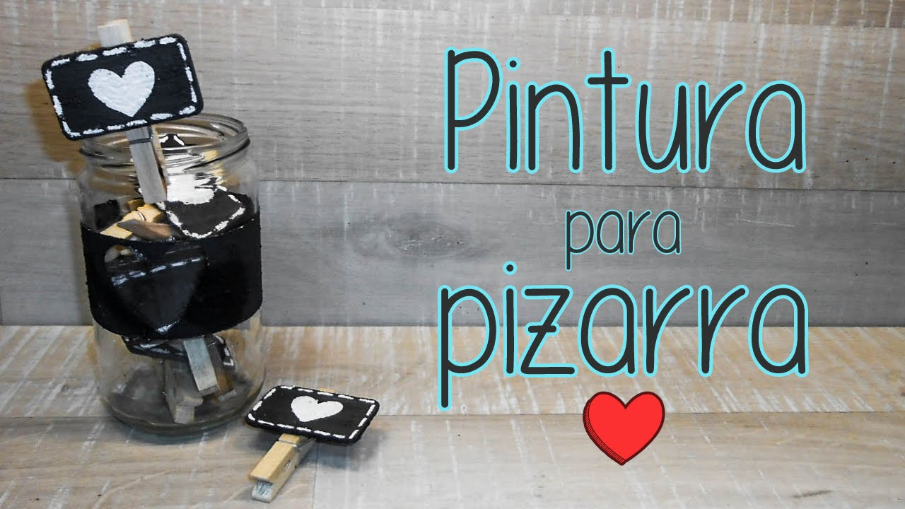 Pintura para pizarra ideas youtube - Pintura metalizada pared ...