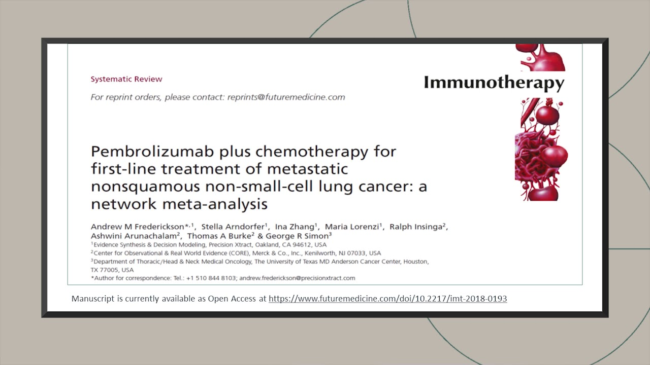 Pembrolizumab plus chemotherapy for first-line treatment of