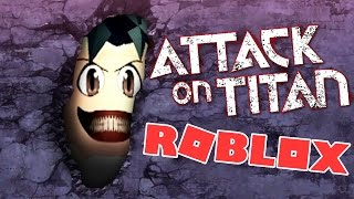 ATTACK ON TITAN IN ROBLOX! | BLOCKY TITANS IN THE WALLS (Roleplay)