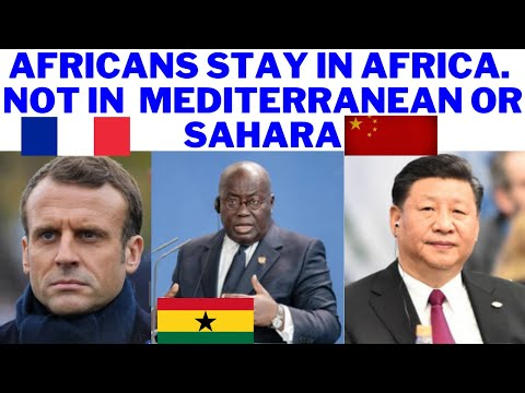 Ghana's Nana Addo Akufo DISAGREED With Emmanuel Macron, No More Business As Usual on Africa Con