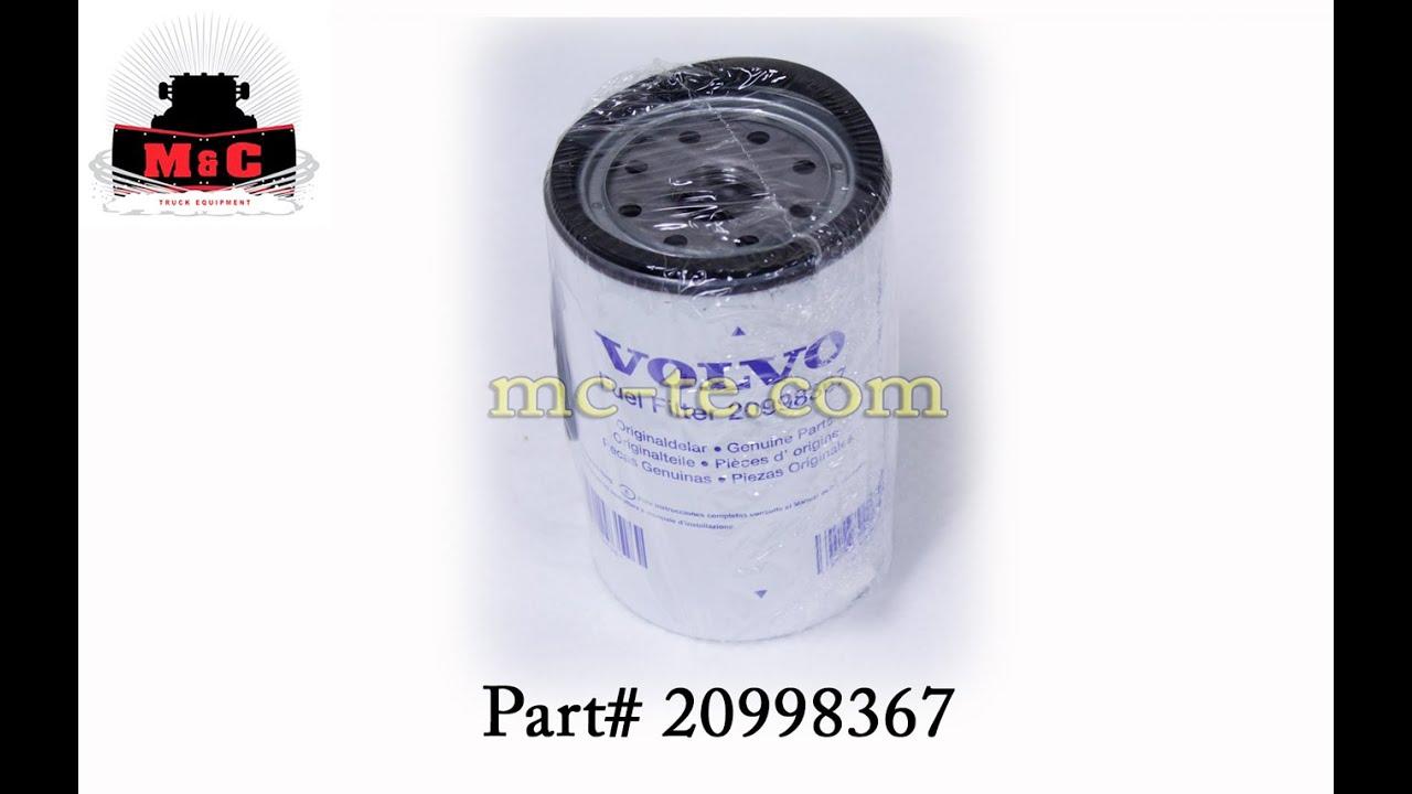 hight resolution of volvo fuel filter 20998367