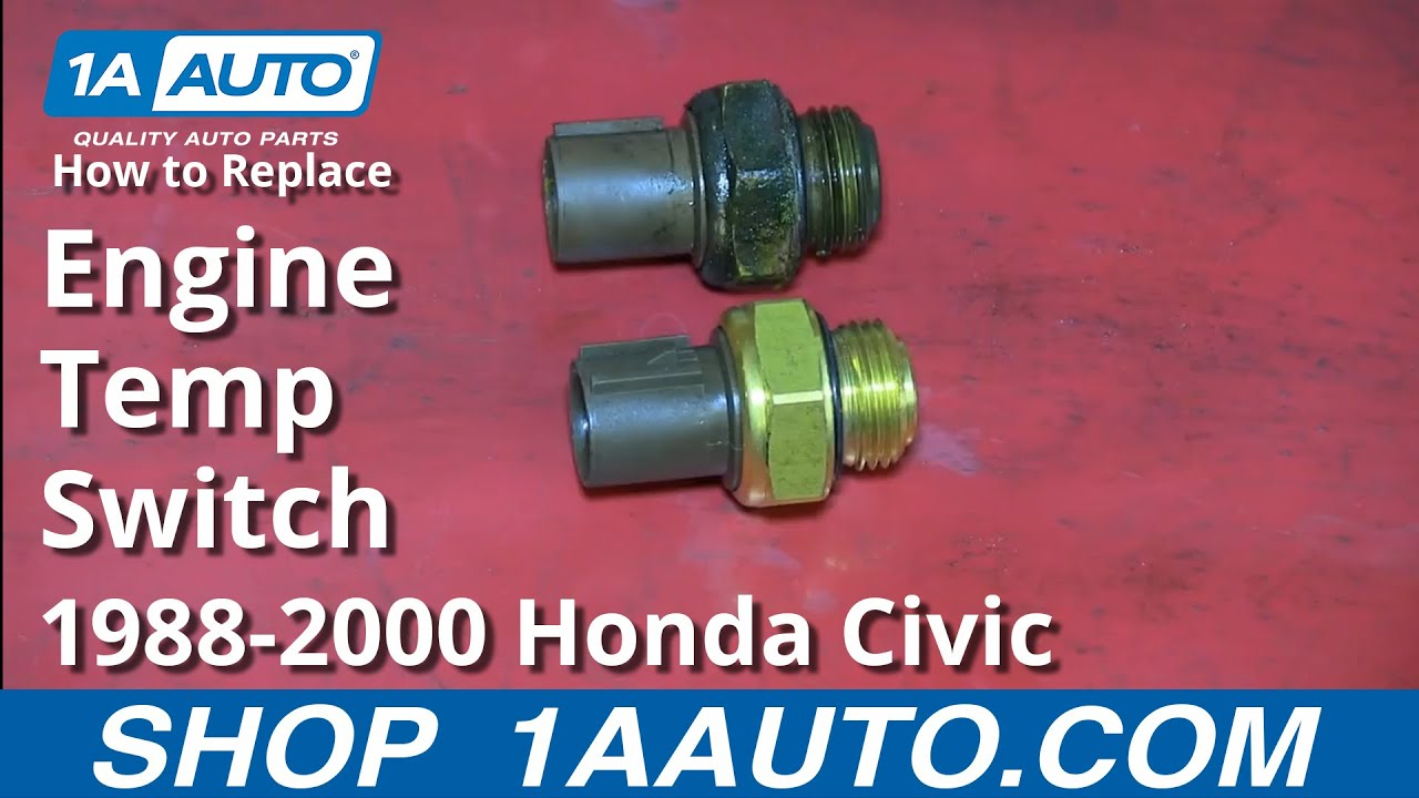 hight resolution of how to install replace engine computer coolant temperature sensor 1 6l honda civic
