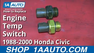 How To Install Replace Engine Computer Coolant Temperature Sensor 1.6L Honda Civic