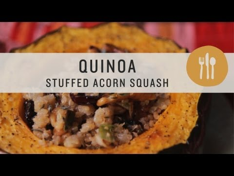 Acorn Squash With Cranberry, Quinoa and Goat Cheese Stuffing