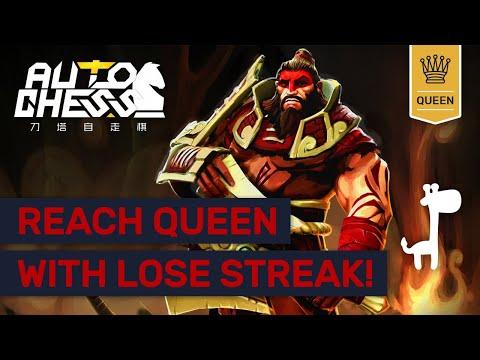 MASTER LOSING STREAKS TO QUEEN! Dota Auto Chess AGGRESSIVE HUNTERS!
