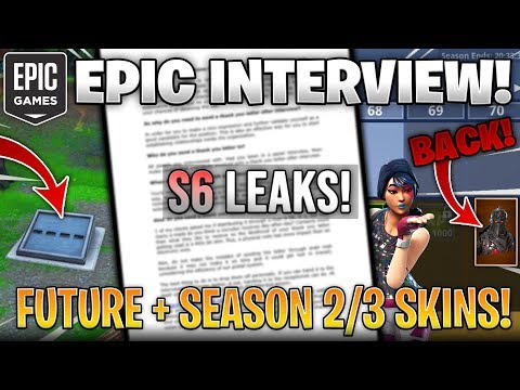 FORTNITE STAFF INTERVIEW! *S6 Leaks, Exclusive Season 2/3 Skins Returning, Future*