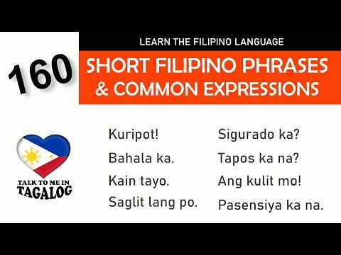 Tagalog (Filipino) Language  160 USEFUL TAGALOG PHRASES