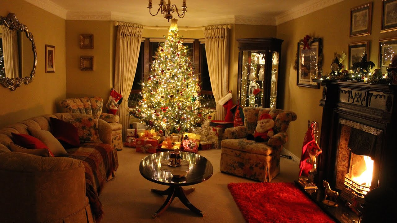 Christmas living room decoration time lapse interior for Room decor reddit