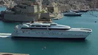 Virtu Ferries - M/V Jean De La Vallette entering the Grand Harbour in Valletta, Malta.