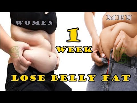 3 Steps to Lose Belly Fat in 1 Week to For Women, Teenagers And Men