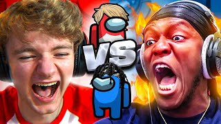 KSI vs TOMMYINNIT FIGHT ON AMONG US