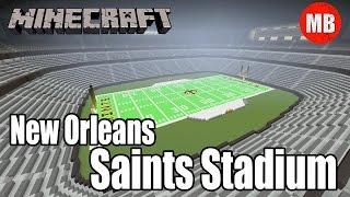minecraft nfl new orleans saints stadium mercedes benz superdome