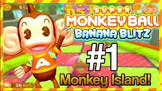 Super Monkey Ball Banana Blitz - Lets Play pt 1 W/Commentary - Monkey Island!