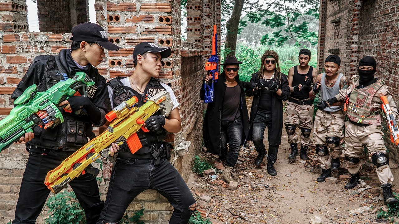 LTT Game Nerf War : Warriors SEAL X Nerf Guns Fight Rocket Crazy Destroy The Link Of Two Tycoons