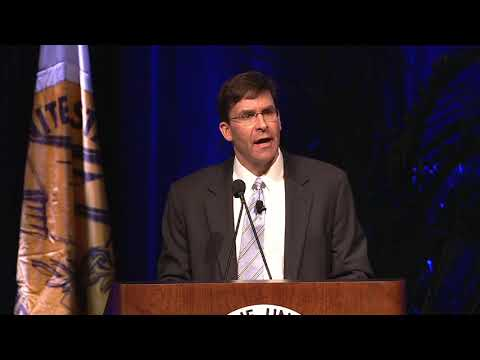 Army Secretary Dr. Mark Esper Keynote on Army Modernization