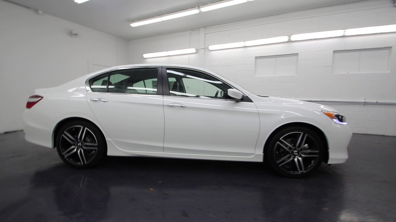 2017 Honda Accord Sport Special Edition White Orchid Pearl Ha054694 Seattle On