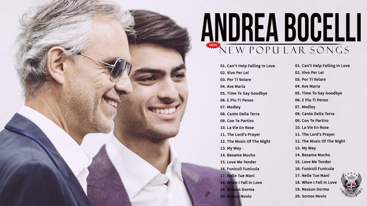Le migliori canzoni del cantante Andrea Bocelli