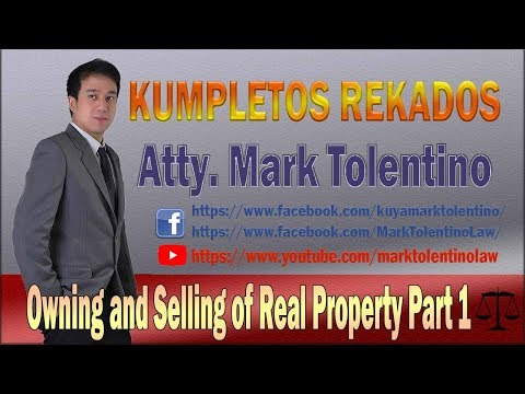 OWNING AND SELLING OF Real Property 1