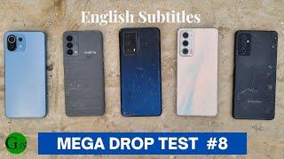 Drop Test - Mi 11 Lite 5G vs realme GT Master Edition vs Motorola Edge 20 vs iQOO Z5 vs Samsung M52